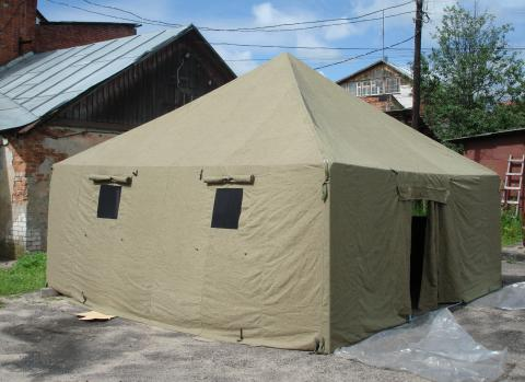 Палатка лагерная 10 ти местная 10ПБ-22(22м2) базовая